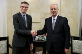 الحمد الله  يدعو  وزير خارجية استونيا  إلى الاعتراف بالدولة الفلسطينية