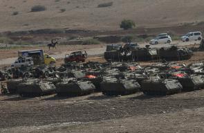 جيش الاحتلال يجري مناورات عسكرية ضخمة في منطقة الفارسية في الأغوار الشمالية