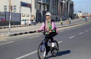 جانب من المارثون الرياضي الذي اقيم في مدينة غزة