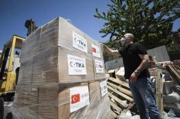 تركيا ترسل طرود غذائية لدعم الاسر الفقيرة الفلسطينية