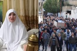 """اهالي جنين يشيعون ام الشهداء والأسرى """"الحاجة القنيري """""""