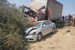 """اصابة 2 من المواطنين و4 امريكيين بحادث سير مروع جنوب جنين """"صور """""""