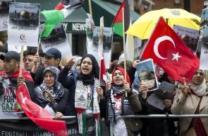 مظاهرات منددة بالاجراءات الاسرائيلية بحق الأقصى في لندن ونيويورك