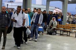 """ارتفاع كبير على اعداد العمال الفلسطينيين في """"اسرائيل """""""