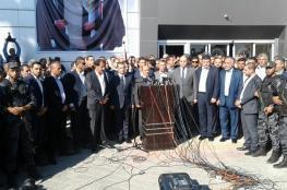 الحكومة تتسلم ادارة معابر قطاع غزة وتلغي الضرائب الغير قانونية
