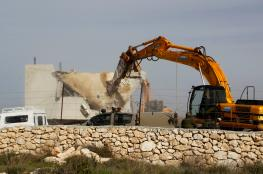 جرافات الاحتلال تنفذ اعمال هدم في بيت جالا غرب بيت لحم