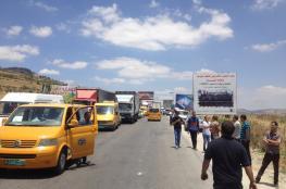 الاحتلال يغلق حاجز حوارة  جنوب نابلس في كلا الاتجاهين