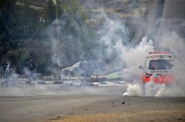 70 اصابة خلال اقتحام الاحتلال لمخيم الامعري برام الله