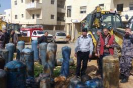 الدفاع المدني يتلف 108 اسطوانة غاز غير مطابقة للمواصفات في محافظة القدس