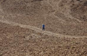 فلسطينيون يتجولون في صحراء البحر الميت شرق بيت لحم