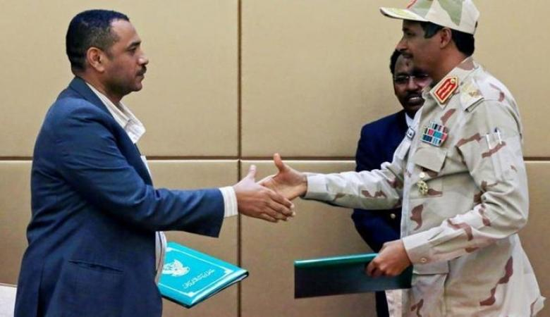 التوافق على أعضاء مجلس السيادة الخمسة في السودان