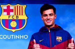 """برشلونة يمنح لاعبه الجديد """" كوتينيو """" رقم الأسطور الراحل """"كرويف """""""