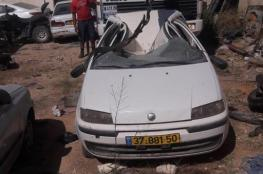 الشرطة تتلف  11 مركبة غير قانونية في نابلس