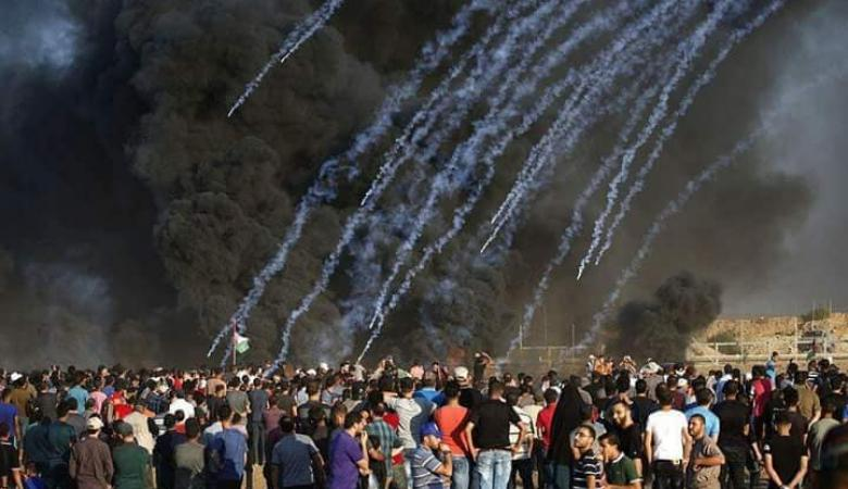 ثلاثة شهداء واصابة 30 آخرين في مسيرة العودة بقطاع غزة