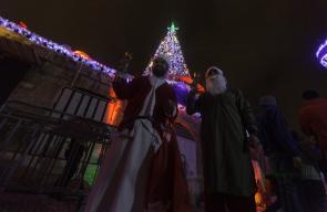 القدس - أجواء البلدة القديمة ليلا استعدادا لاستقبال عيد الميلاد المجيد.