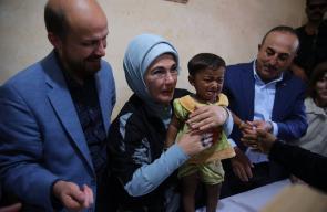 زوجة الرئيس التركي تطمئن على أوضاع مسلمي الروهينغا