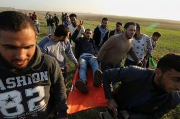 3 إصابات إحداها خطيرة بمواجهات مع الاحتلال في قطاع غزة