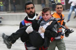 81 اصابة خلال مواجهات مع الاحتلال في مختلف المدن