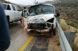 عدة اصابات في صفوف المواطنين بحادث سير مورع في سلفيت
