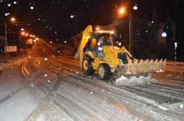 الاشغال تناشد المواطنين بعدم التنقل بين المحافظات بسبب تساقط الثلوج