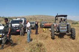 الاحتلال يسرق جرار زراعي لأحد المواطنين جنوب شرق طوباس