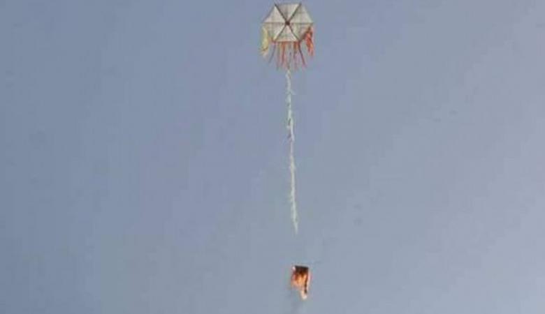 للمرة الرابعة ..اضرار كبيرة بمزارع المستوطنين قبالة غزة بسبب طائرة ورقية تحمل زجاجة حارقة