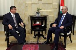 رئيس الوزراء يطالب اميركا  بالضغط على اسرائيل لوقف الاستيطان