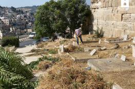 الاحتلال يعيق تنظيف مقبرة باب الرحمة في الاقصى