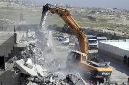 """الاحتلال يهدم منزلا في قرية """"بتير """" جنوب بيت لحم"""