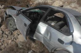 بالصور: إصابة رجل وزوجته بحادث سير في صوريف شمال الخليل