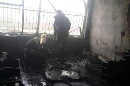 الدفاع المدني في جنين ينقذ عائلة بعد ان اشتعلت النيران في منزلهم غرب المدينة