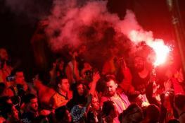 الاعتداء على جماهير تونسية رفعت العلم الفلسطيني في مصر