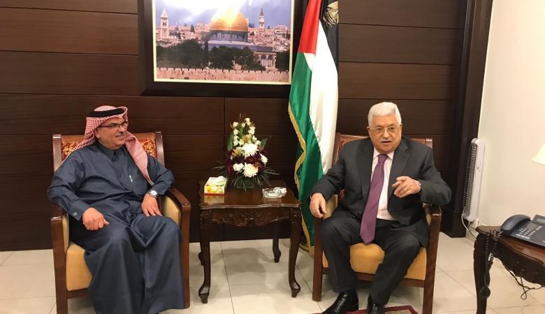 الرئيس والسفير القطري يبحثان المصالحة بمقر الرئاسة