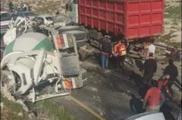اصابات بينها حرجة في حادث تصادم مروع شرق بيت لحم