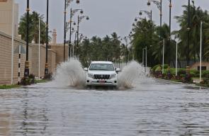 جانب من تأثير اعصار موكنو الذي ضرب سلطنة عمان ليلة أمس