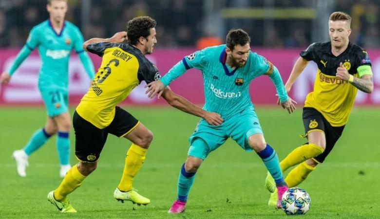 شاهد ..برشلونة يسحق دورتموند بثلاثية في دوري الابطال
