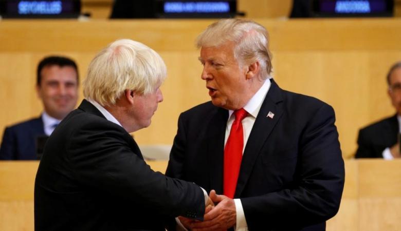 ترامب يعلق على نقل رئيس وزراء بريطانيا للعناية المركزة