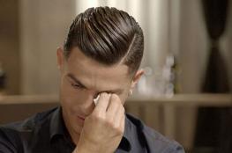 شاهد ..كريستيانو رونالدو يبكي على الهواء