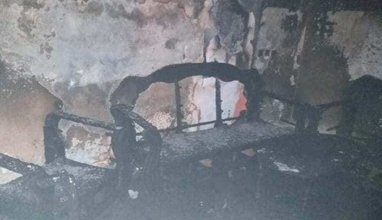 جهاز شاحن بطارية دراجة هوائية يتسبب باحراق منزل في جنين