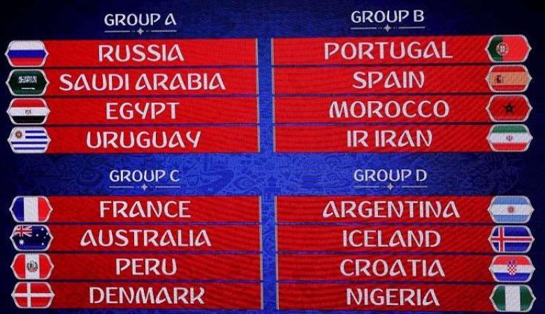 الفيفا يعدل مواعيد 6 مباريات في مونديال روسيا