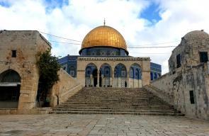 قبّة الصخرة المشرفة في المسجد الأقصى، اليوم