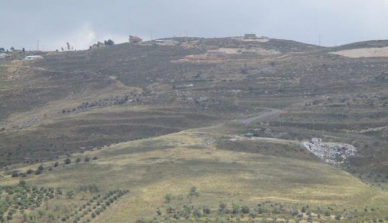 الاحتلال يستولي على اراضي في بورين جنوب نابلس