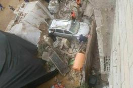 أضرار في ممتلكات المواطنين بغزة نتيجة المنخفض الجوي
