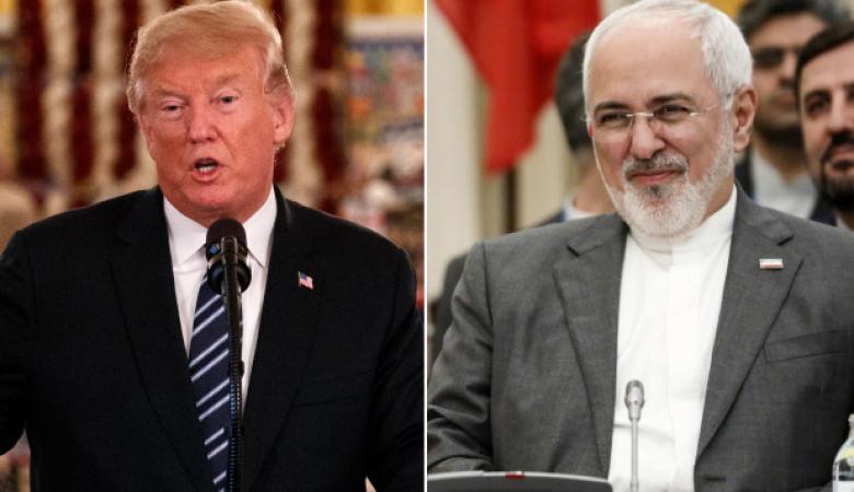 ظريف : ترامب لن يدخل بمعركة عسكرية مع ايران