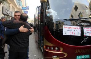 جانب من وداع قافلة معتمرين تضم 435 معتمررًا من ذوي الشهداء