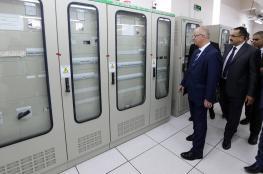افتتاح محطة كهرباء الجلمة لتزويد جنين 60 ميغا واط