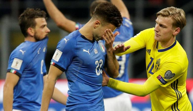 ايطاليا تخفق في التأهل لكأس العالم  لاول مرة منذ العام 1958