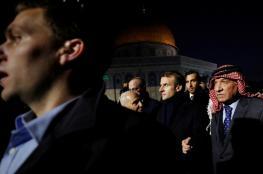 شاهد ..الرئيس الفرنسي يزور المسجد الأقصى