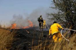3 حرائق تشتعل في مستوطنات غلاف غزة بفعل البالونات الحارقة