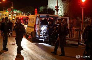 من مكان تنفيذ عملية  الطعن واطلاق النار في القدس